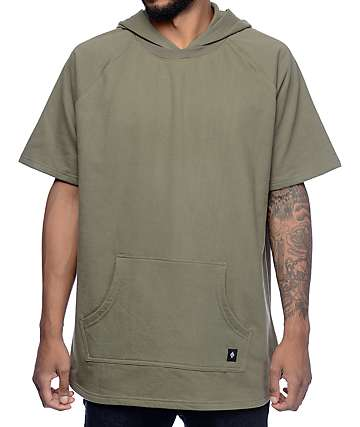 Akomplice VSOP West Army Green Short Sleeve Hoodie