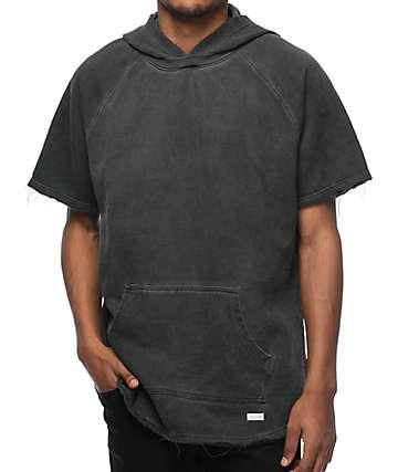 Akomplice VSOP West Overdye Charcoal Short Sleeve Hoodie