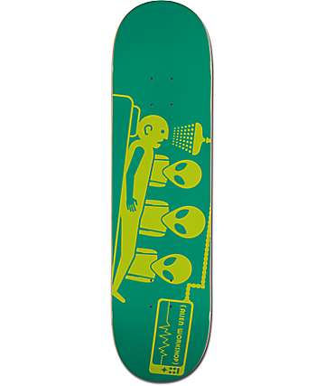 "Alien Workshop DayGlo Abduction 8.25"" Green Skateboard Deck"