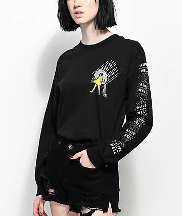 Alive & Well Salt Of The Earth Black Long Sleeve T-Shirt