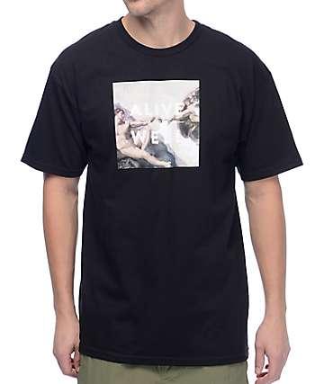 Alive And Well Creation Logo camiseta negra