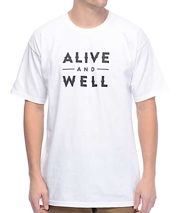 Alive And Well Logo White T-Shirt