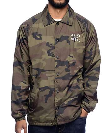 Alive and Well Coaches Camo Jacket