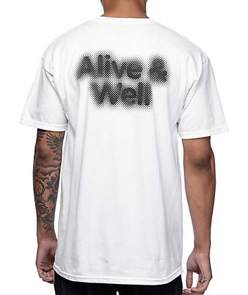 Alive and Well Faded White T-Shirt