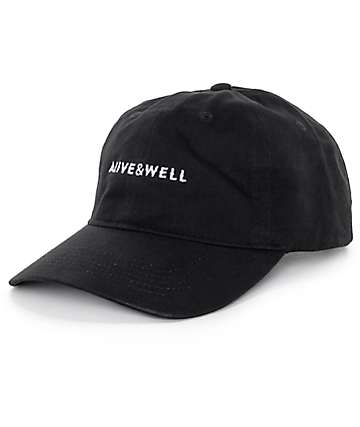 Alive and Well Horizontal Logo Strapback Baseball Hat