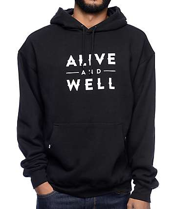 Alive and Well Logo Black Hoodie