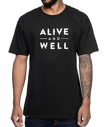 Alive and Well Logo Black T-Shirt