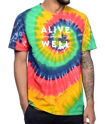 Alive and Well Logo Tie Dye T-Shirt