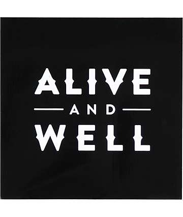 Alive and Well Square Logo Black Sticker