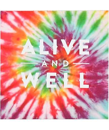 Alive and Well Square Logo sticker en teñido anudado