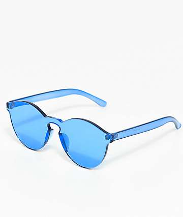 All Blue Lens Sunglasses