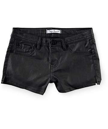 Almost Famous Black Coated Shorts