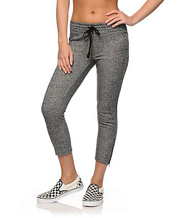 Almost Famous Zipper Crop Jogger Pants