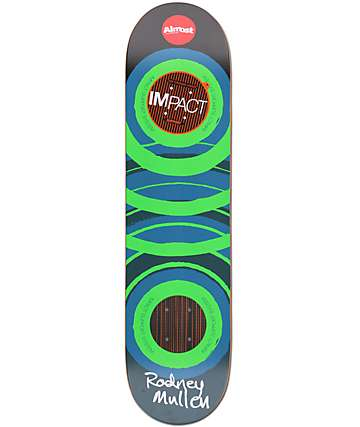 "Almost Mullen Glow Impact Support 7.75"" Skateboard Deck"