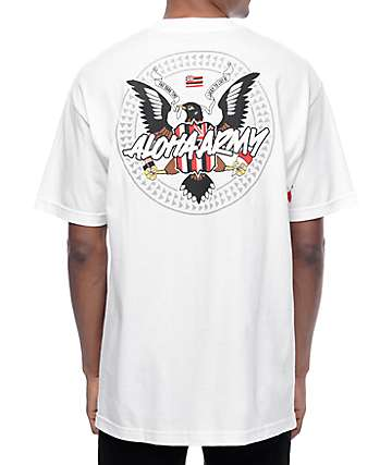 Aloha Army Mynah Set White T-Shirt