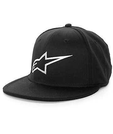 Alpine Stars Ageless Flat Black Fitted Hat