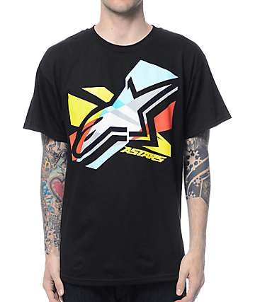Alpine Stars CMYK Black T-Shirt