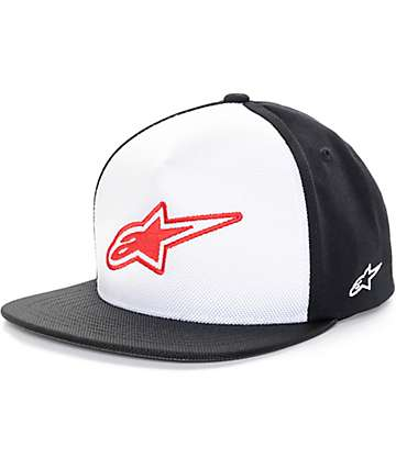 Alpine Stars Logistics Black & White Snapback Hat