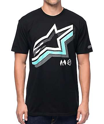 Alpinestars Halogen Black T-Shirt