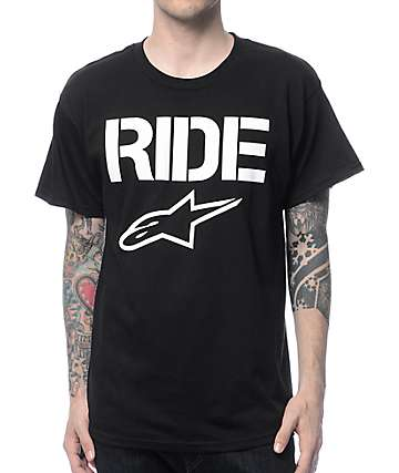 Alpinestars Ride Solid Black T-Shirt