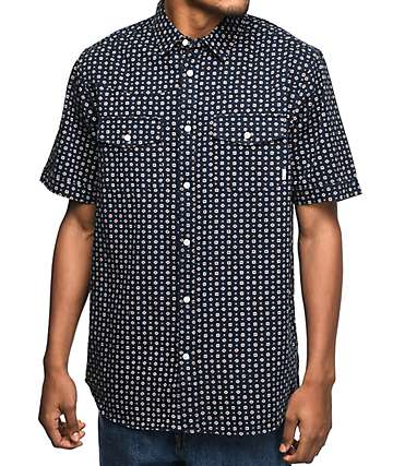 Altamont Chelsea Dark Navy Woven Button Up Shirt