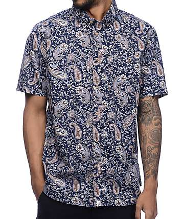 Altamont Four Winds Paisley Woven Button Up Shirt