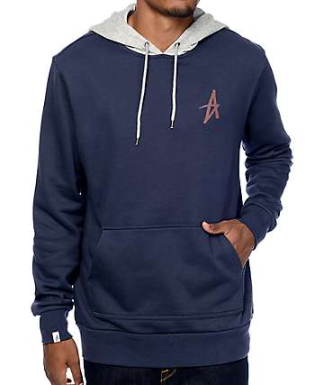 Altamont Icon Navy & Grey Pullover Hoodie