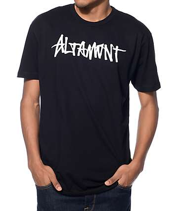 Altamont One Liner Black T-Shirt