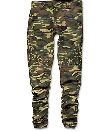 American Stitch Camo Basket Woven Twill Bungee Jogger Pants