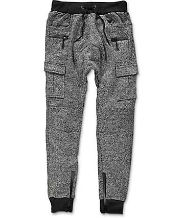 American Stitch Cargo Ankle Zip Heather Grey Jogger Pants
