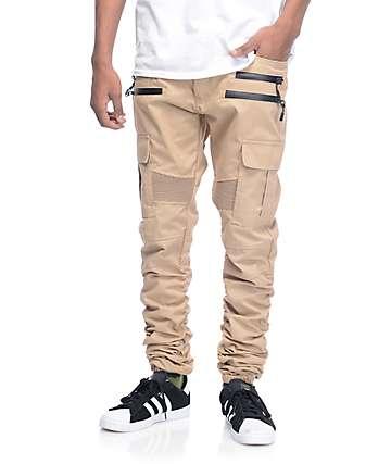 American Stitch Cargo pantalones jogger asargados en caqui