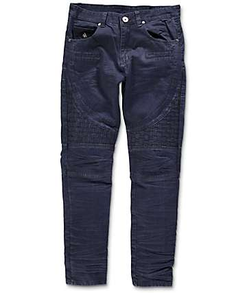 American Stitch Denim Collection Indigo Basket Moto Denim Jeans