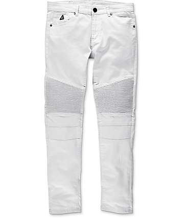 American Stitch Denim Collection Moto jeans estrechos blancos