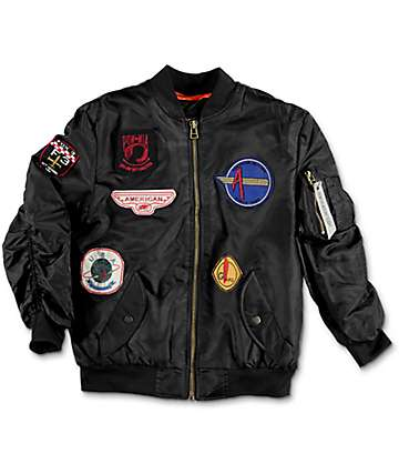 American Stitch Flight Black Boys Jacket