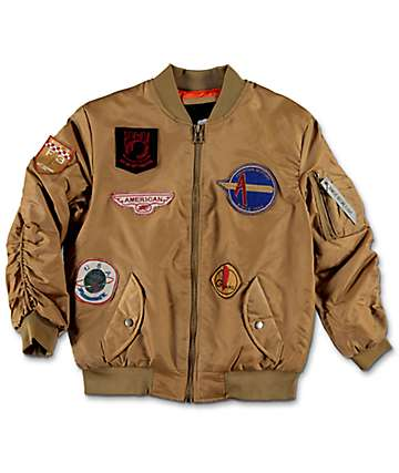 American Stitch Flight Camel Boys Jacket