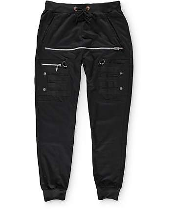 American Stitch Front Zip Jogger Pants