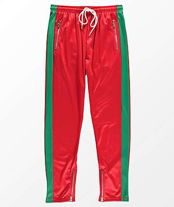 American Stitch Red & Green Tricot Track Pants
