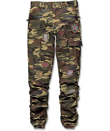 American Stitch Scrunch Patched Camo Boys Jogger Pants