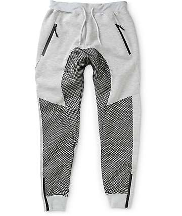 American Stitch Terry & Mesh Jogger Pants
