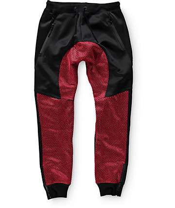 American Stitch Terry and Mesh Jogger Pants