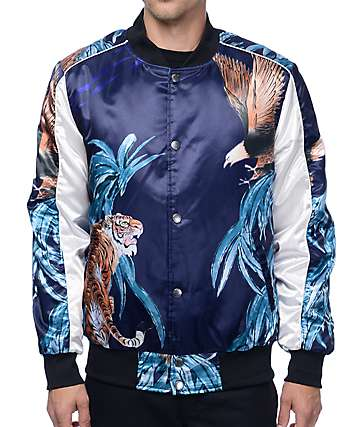 American Stitch Tiger Eagle Navy Souvenir Jacket