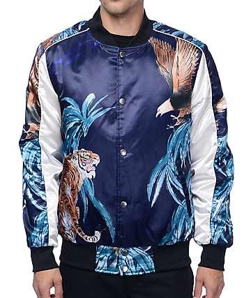American Stitch Tiger Eagle Navy Souvenir Jacket
