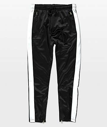 American Stitch Tricot Black & White Track Pants