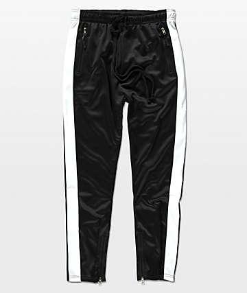 American Stitch Tricot Black & White Track Pants
