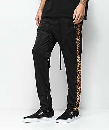 American Stitch Tricot Cheetah Black Track Pants
