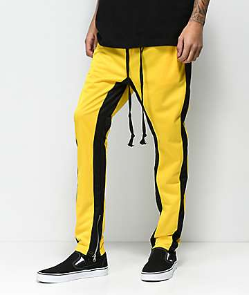 American Stitch Tricot Yellow & Black Track Pants