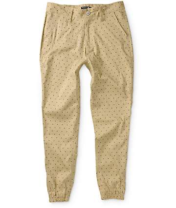 American Stitch Twill Polka Dot Jogger Pants