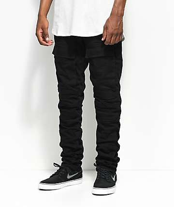 American Stitch Wax Knee Artic Black Denim Jeans