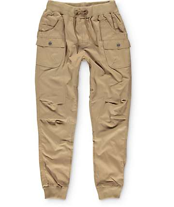 American Stitch pantalones jogger cargo de tela asargada