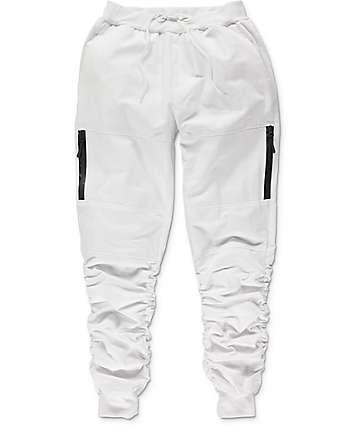 American Stitch pantalones jogger de tela asargada blancos